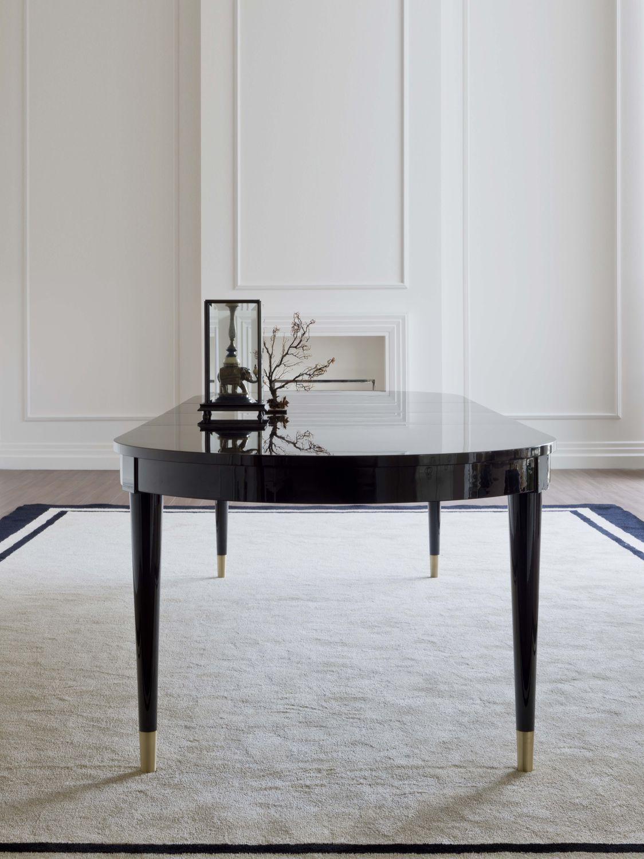 Tavolo da pranzo moderno / in legno massiccio / ovale ...