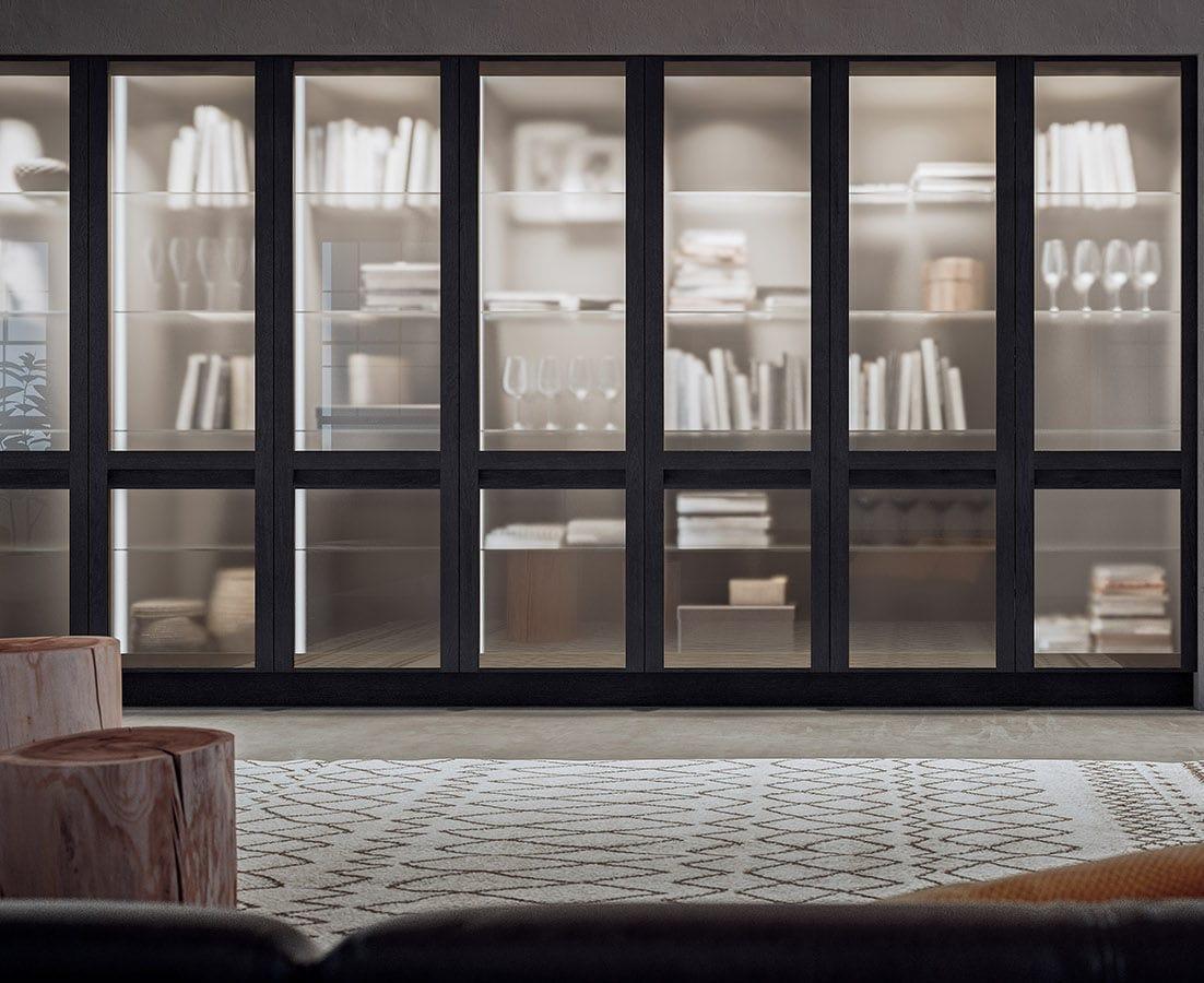 Libreria alta / moderna / in legno / vetrata - TREVISO - GD ...