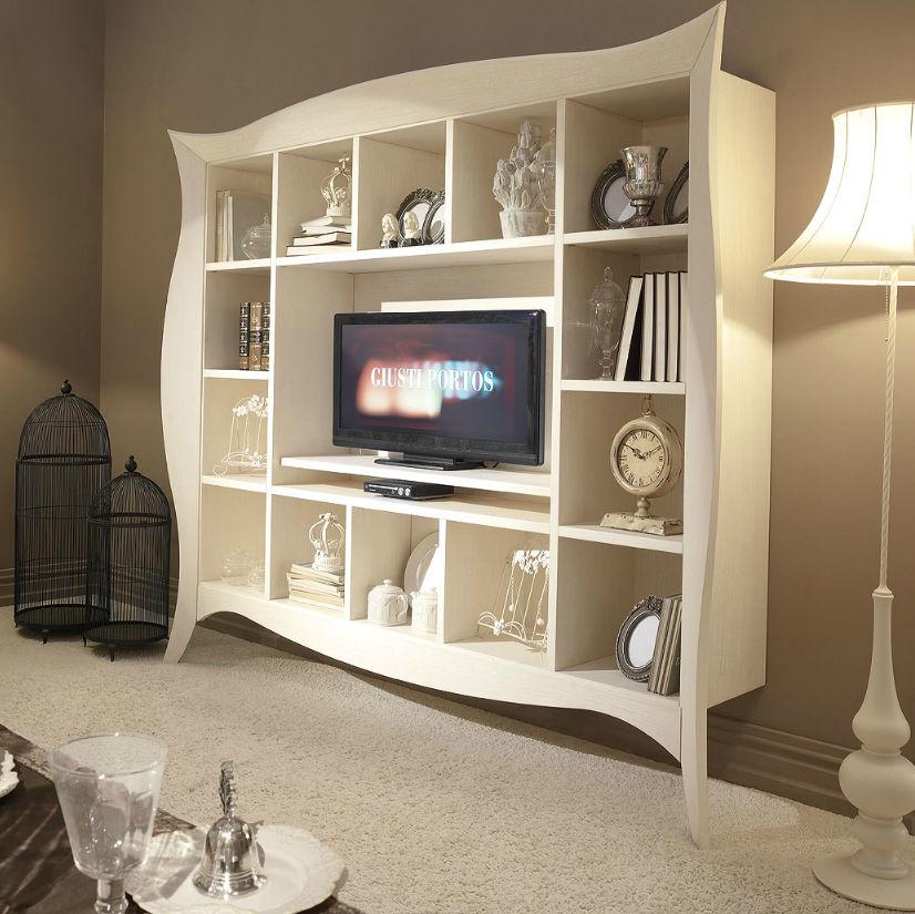 Porta Tv Barocco Moderno.Mobile Porta Tv Moderno In Legno