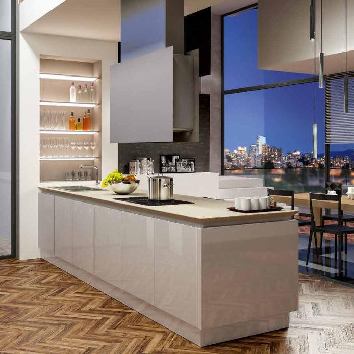 Cucina moderna / in laminato / con isola / laccata - B50 ...