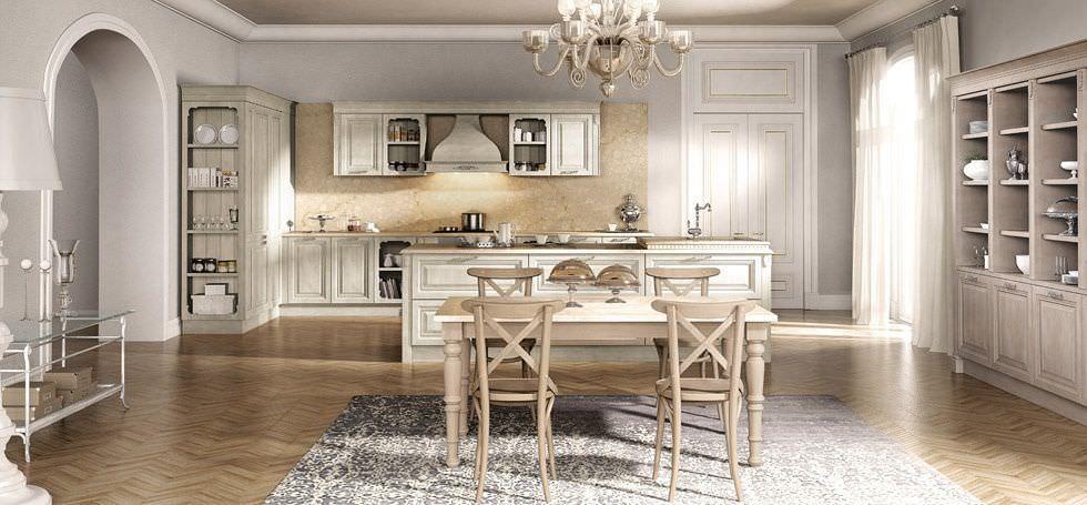 Cucina classica / in legno / con isola / laccata - FLORENCE ...