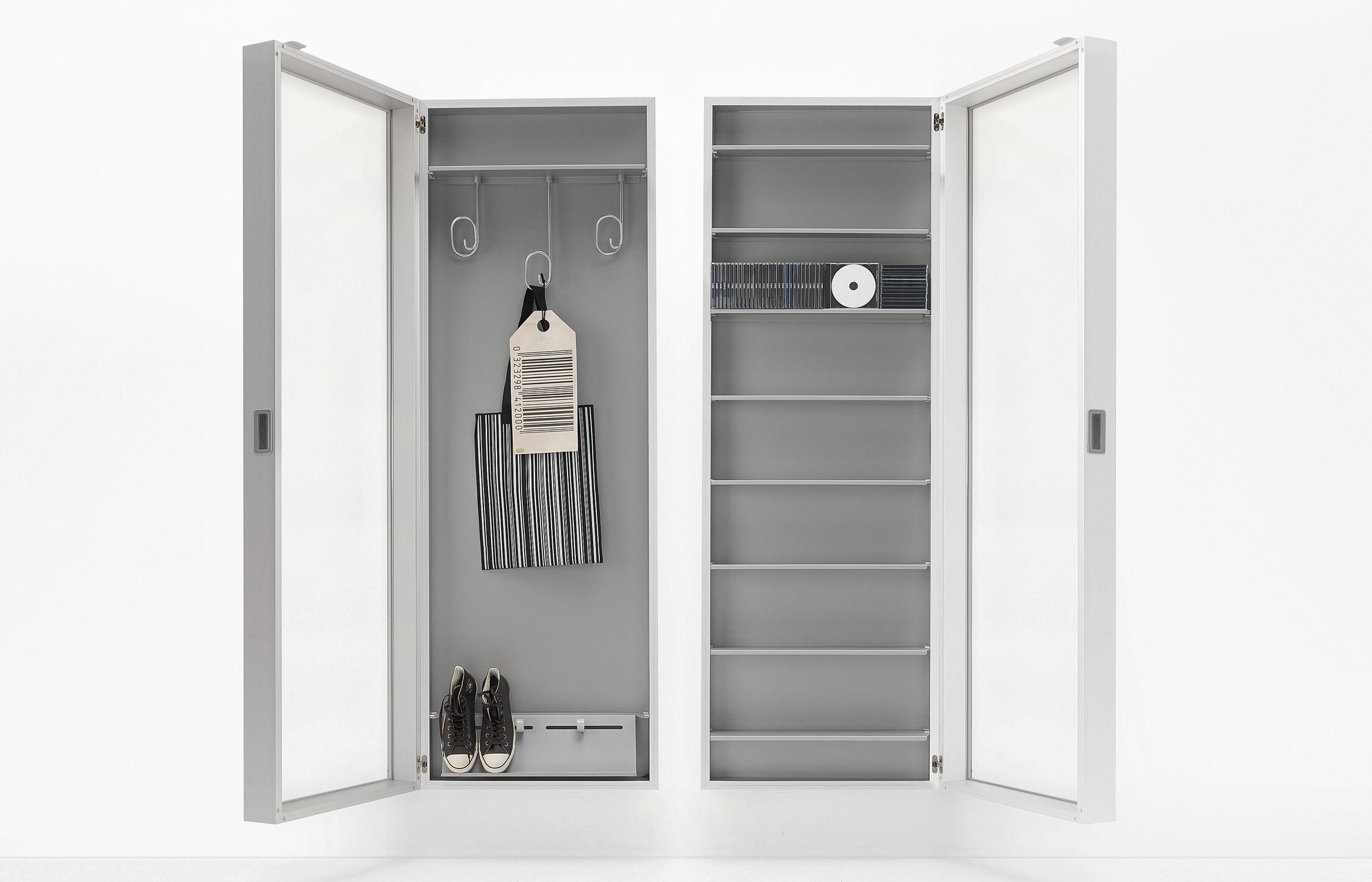 Moderno Armadio A Muro Ingresso.Mobile Da Ingresso Moderno Box By Luciano Bertoncini Kristalia