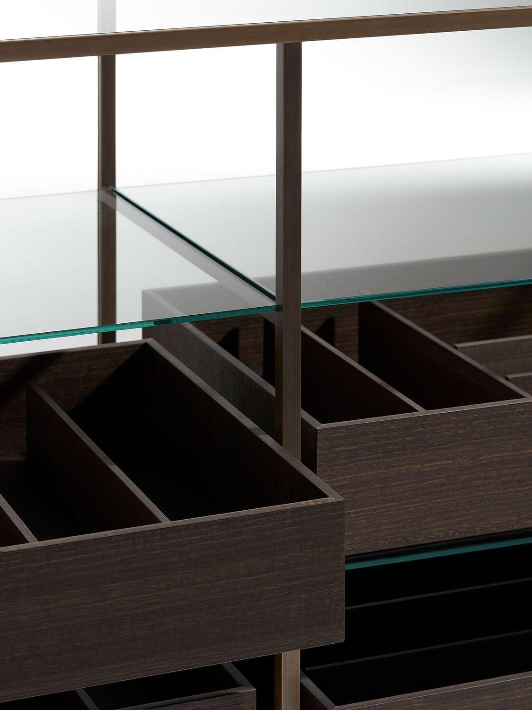 Vetrina moderna ACQUARIO Porro in metallo in vetro
