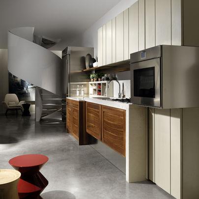 Cucina moderna / in noce / senza maniglie - CANALETTO - L ...