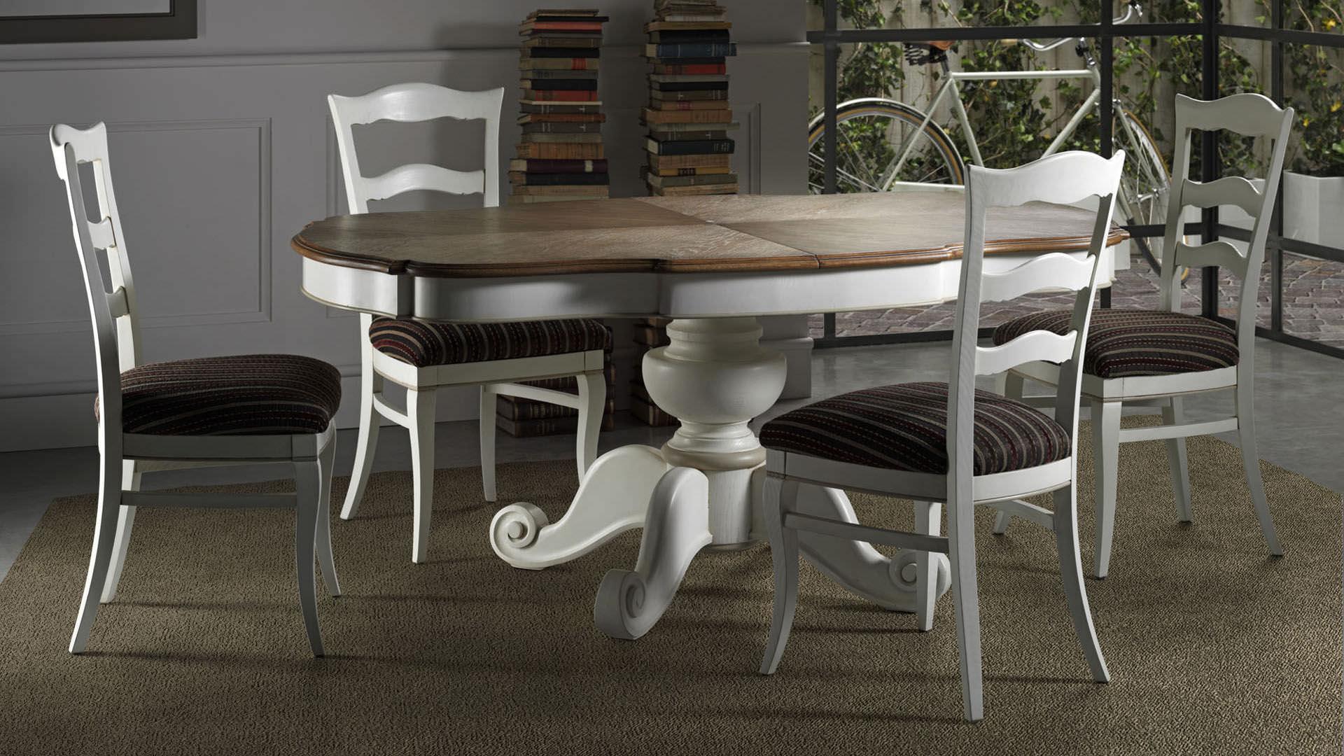 Tavoli Da Cucina Allungabili Classici.Tavolo Da Pranzo Classico In Legno Allungabile San Clemente