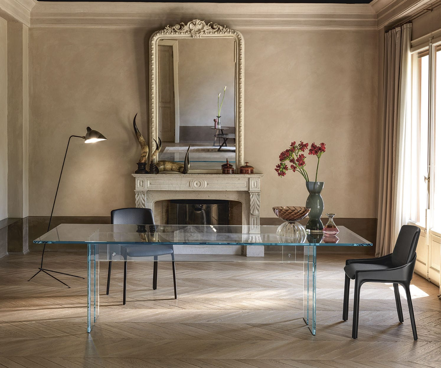 Tavolo da pranzo moderno - LLT - FIAM ITALIA - in vetro ...