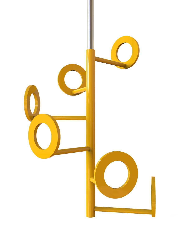 Appendiabiti Sospeso.Appendiabiti Da Soffitto Design Originale In Acciaio Sospeso