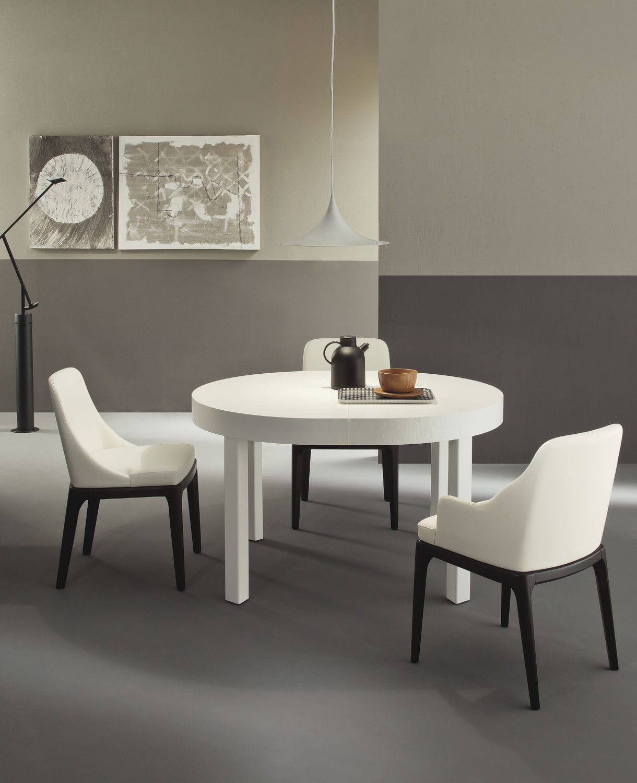 Tavolo da pranzo moderno / in legno / tondo / allungabile ZED Riflessi