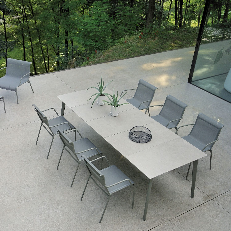 Tavoli Da Esterno Emu.Tavolo Moderno In Alluminio Con Supporto In Alluminio