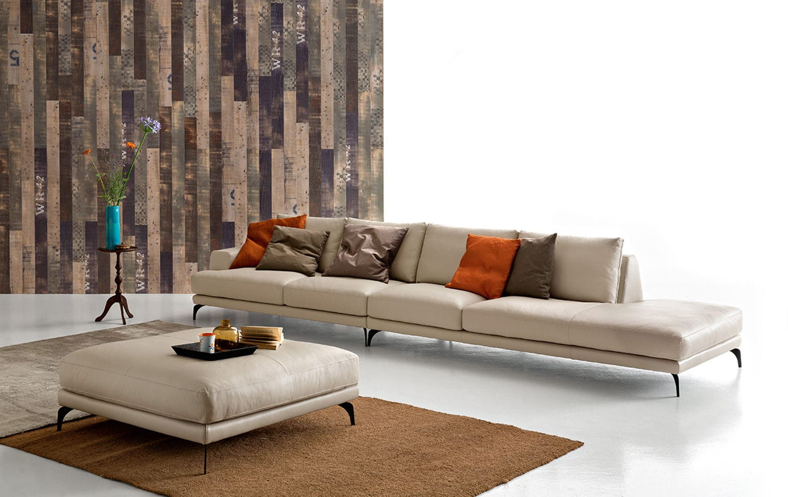 Divano d\'angolo / modulare / moderno / in pelle - FOSTER by ...