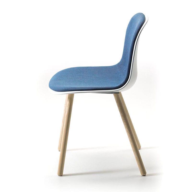 Sedia design scandinavo - MANI 4WL - arrmet - imbottita ...