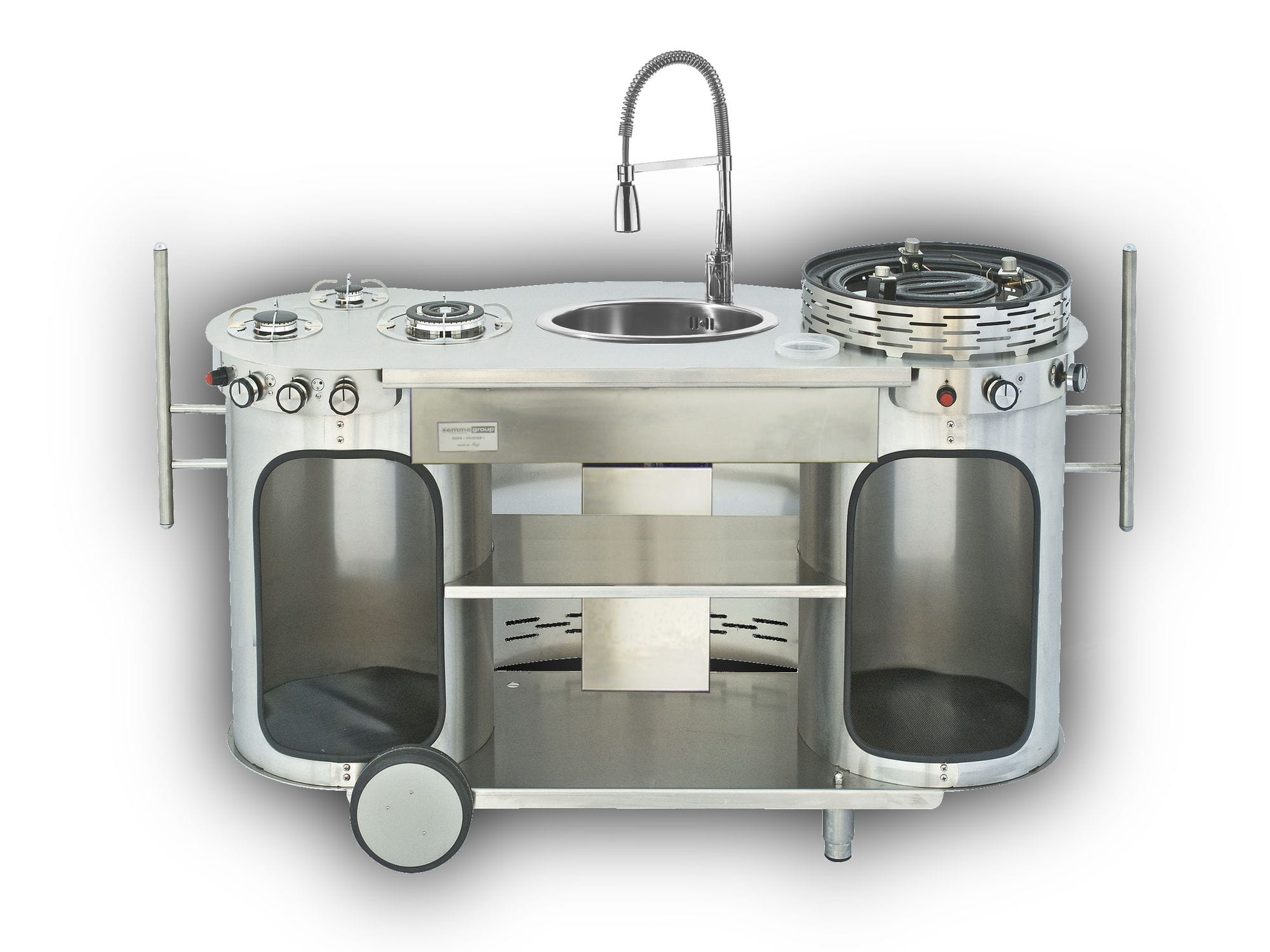 Mobili Cucina Professionale Acciaio.Cucina Professionale In Acciaio Inox Compatta Mobile