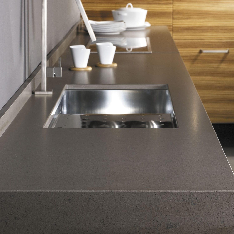 Protezione Piano Di Lavoro Cucina.Piano Di Lavoro In Silestone Da Cucina Bianco Grigio