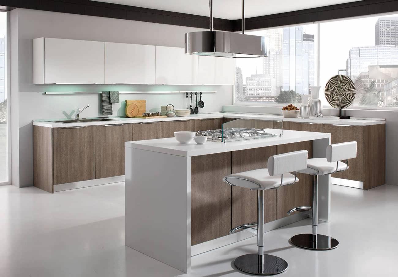 Cucina moderna / in legno / con isola / con impugnature - AIRONE ...