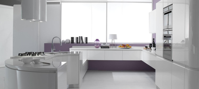 Cucine Moderne Con Isola Curva.Cucina Moderna In Laminato Con Isola Laccata Seven
