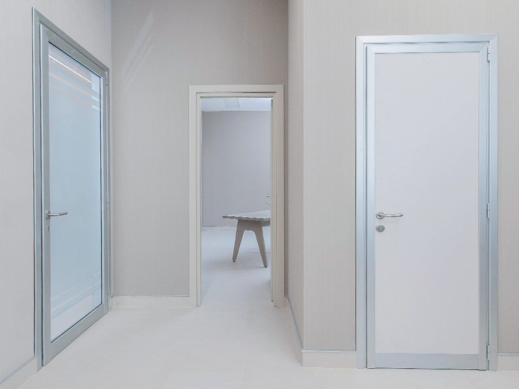 Porte In Alluminio Anodizzato porta da interno - alu frame - ponzi - battente / in