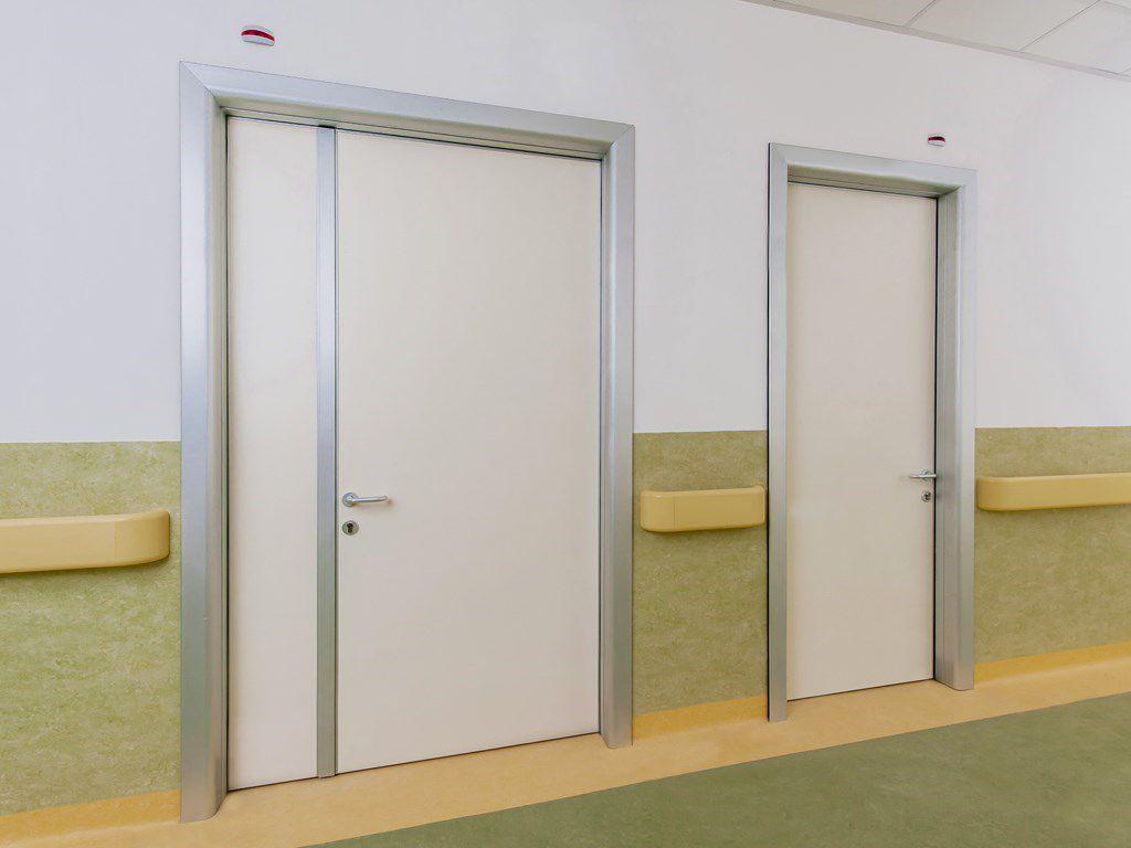 Porte In Alluminio Anodizzato porta da interno - alu panel - ponzi - battente / in legno