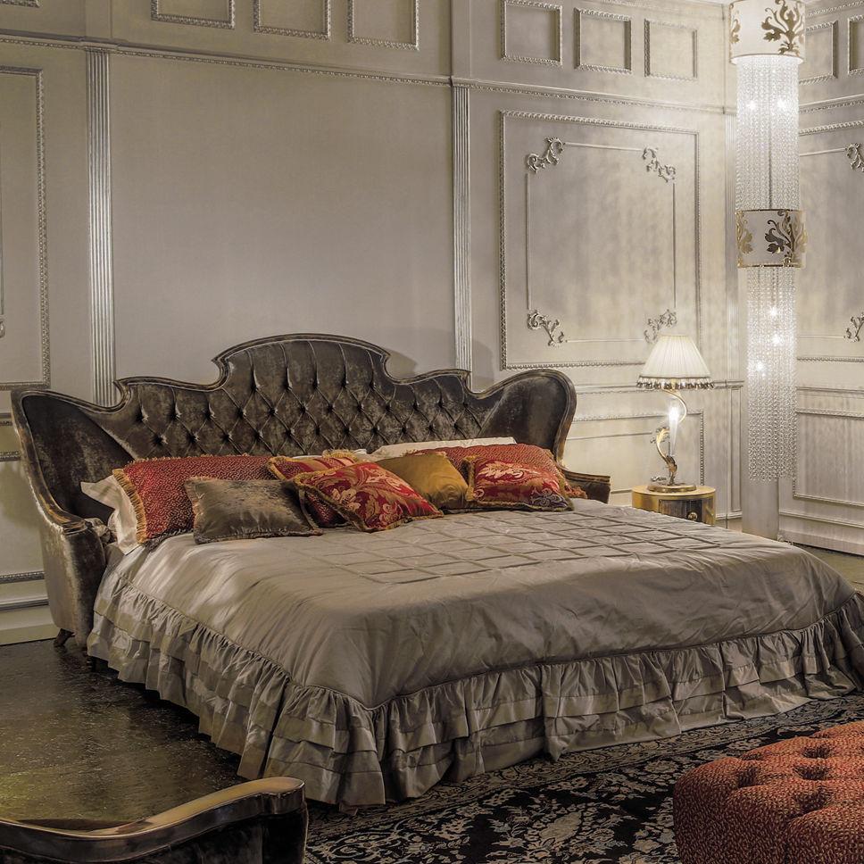 Letto Matrimoniale Nuovo.Letto Matrimoniale Design Nuovo Barocco Imbottito Con