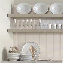 Pannello decorativo di rivestimento / in legno / per cucina ...