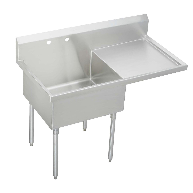 Mobile lavello in acciaio inox / su piedi / per cucina ...