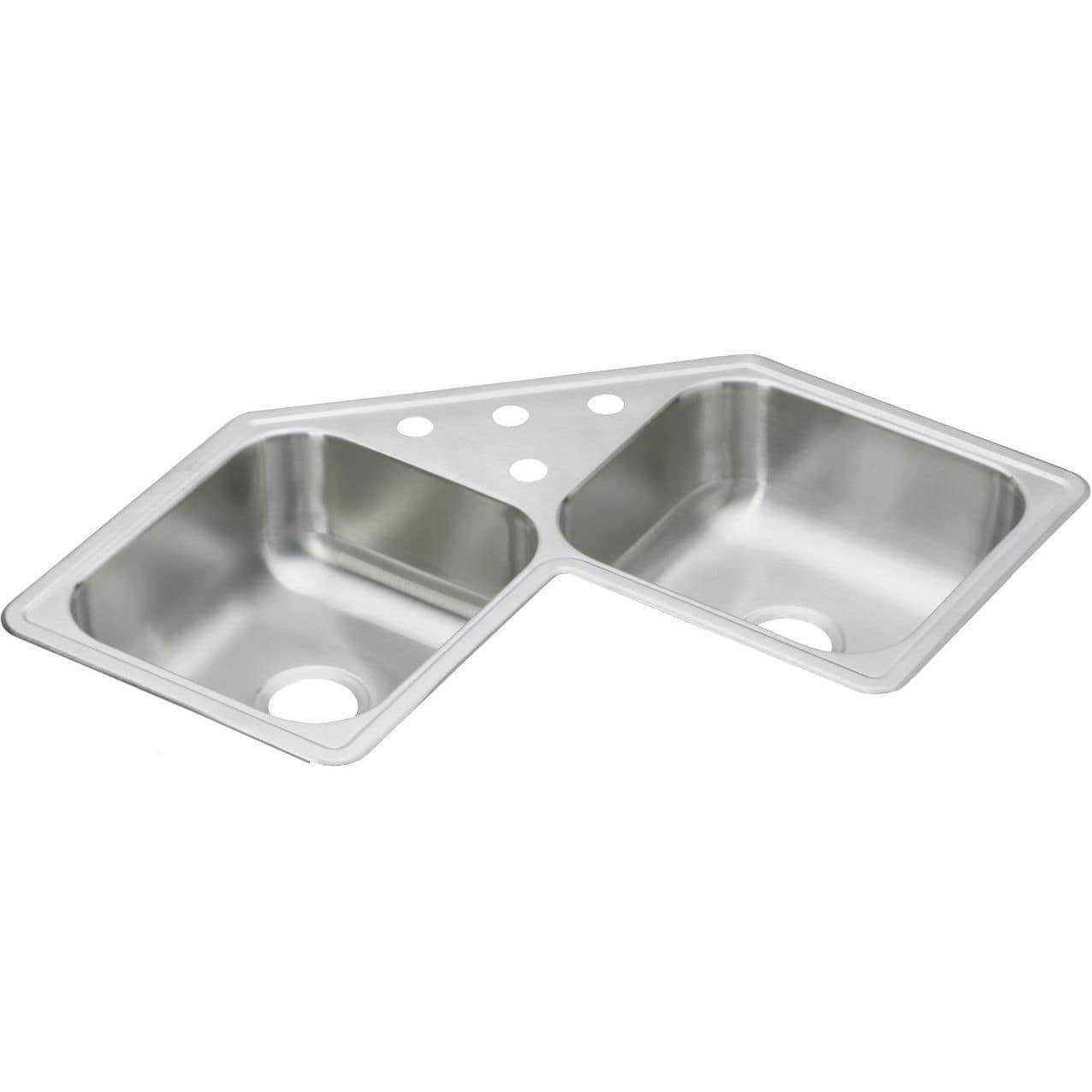 Lavelli Ad Angolo Misure lavello a 2 vasche - de21732 - elkay - in acciaio inox / da
