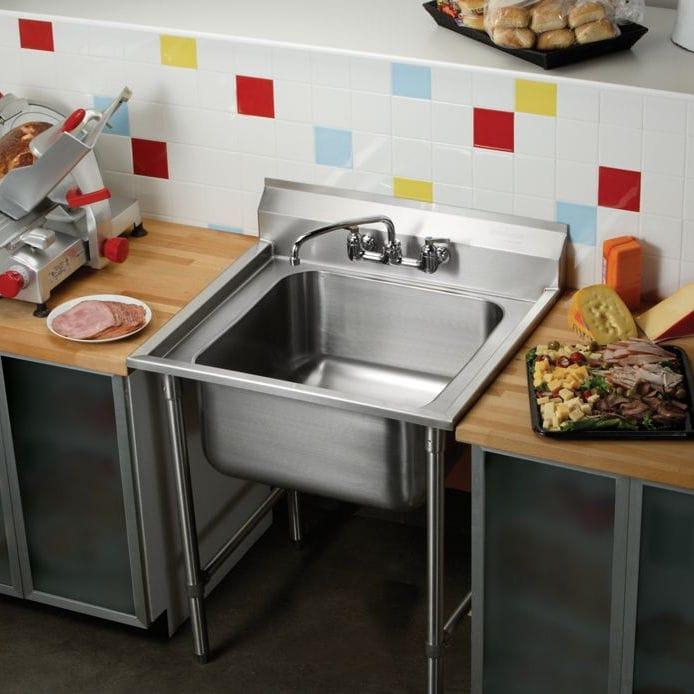 Mobile lavello in acciaio inox / per cucina professionale ...