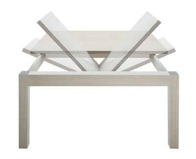 Tavolo Rettangolare Allungabile Quadrato.Tavolo Moderno In Legno Rettangolare Quadrato Sveva Bedont