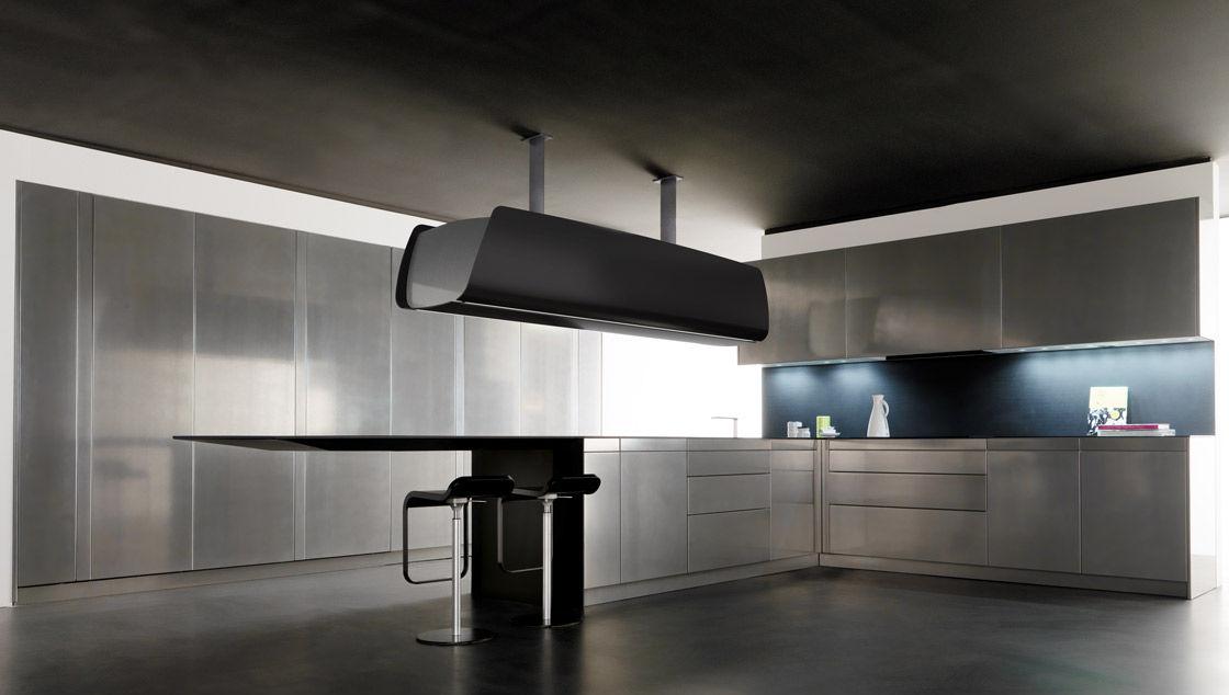 Cucina moderna / in composito / senza maniglie - INVISIBLE ...