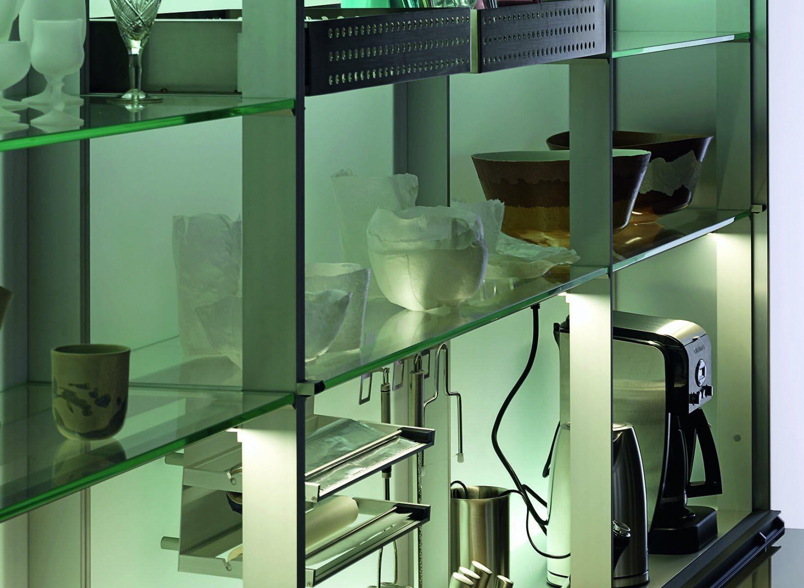 Scaffale modulare / moderno / in vetro / per cucina NEW LOGICA SYSTEM  VALCUCINE
