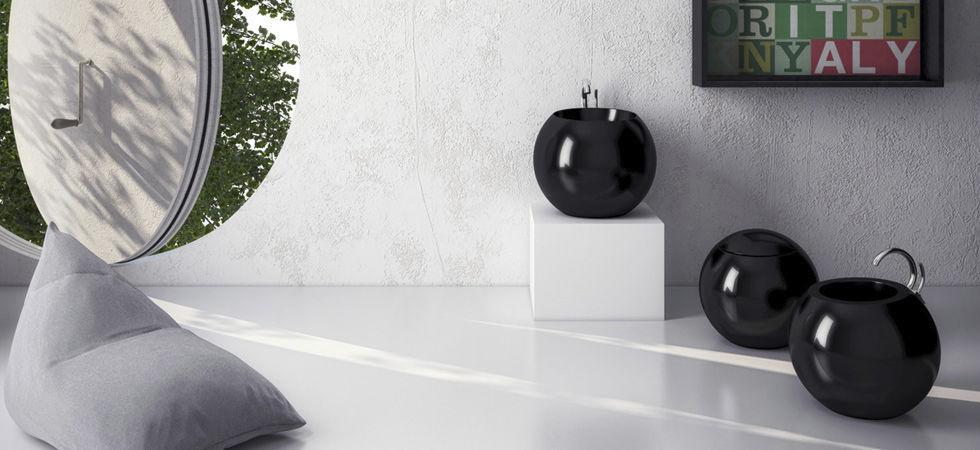 Disegno Ceramica Serie Sfera.Lavabo Da Appoggio Tondo In Ceramica Moderno Sfera