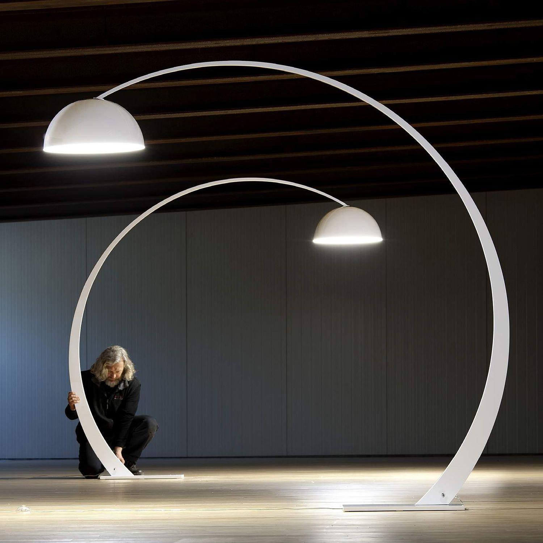 Lampada da terra / design originale / in metallo / ad arco - 1962 by ...