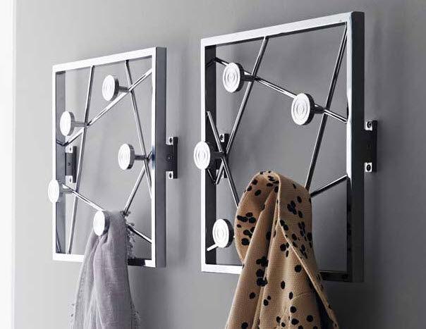 Appendiabiti In Metallo.Appendiabiti A Muro Moderno In Metallo Quadro By Tech Design