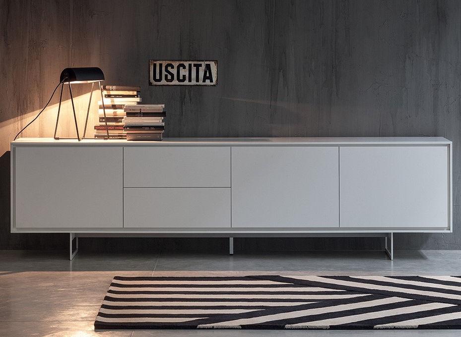 Credenza moderna / in legno laccato / in metallo laccato ...