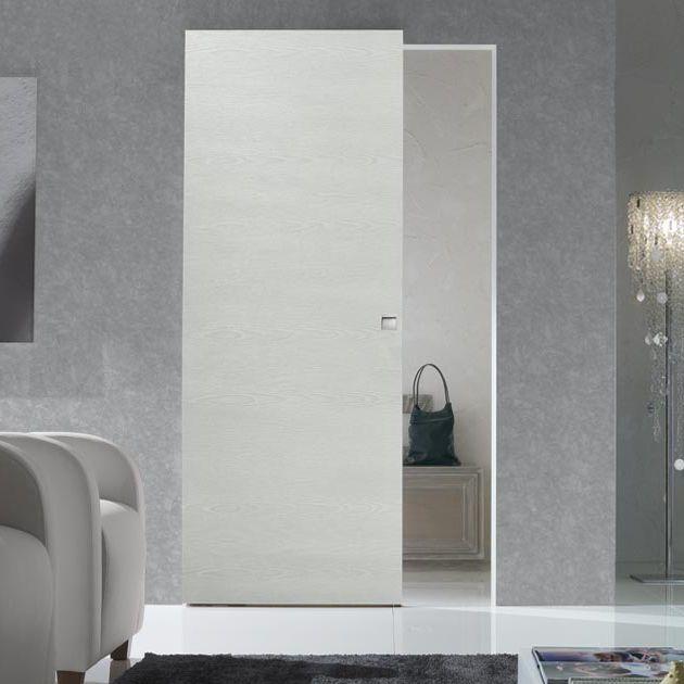 Porta da interni / scorrevole / in legno / filomuro - LINEAR ...