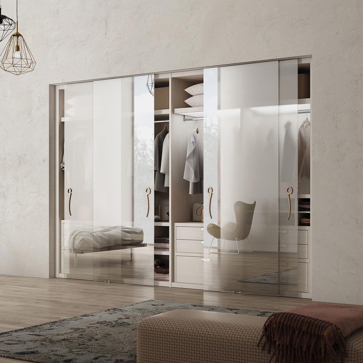 Armadio A Muro Design porta per armadio a muro - space : supersilver chiaro