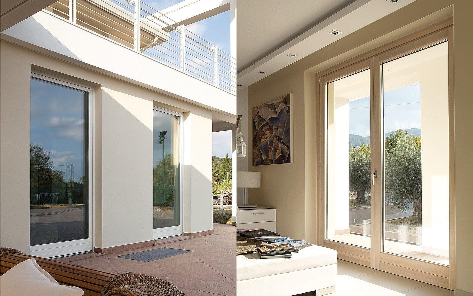 Finestre Con Veneziane Incorporate Prezzi porta finestra battente - linear line - cipriani serramenti