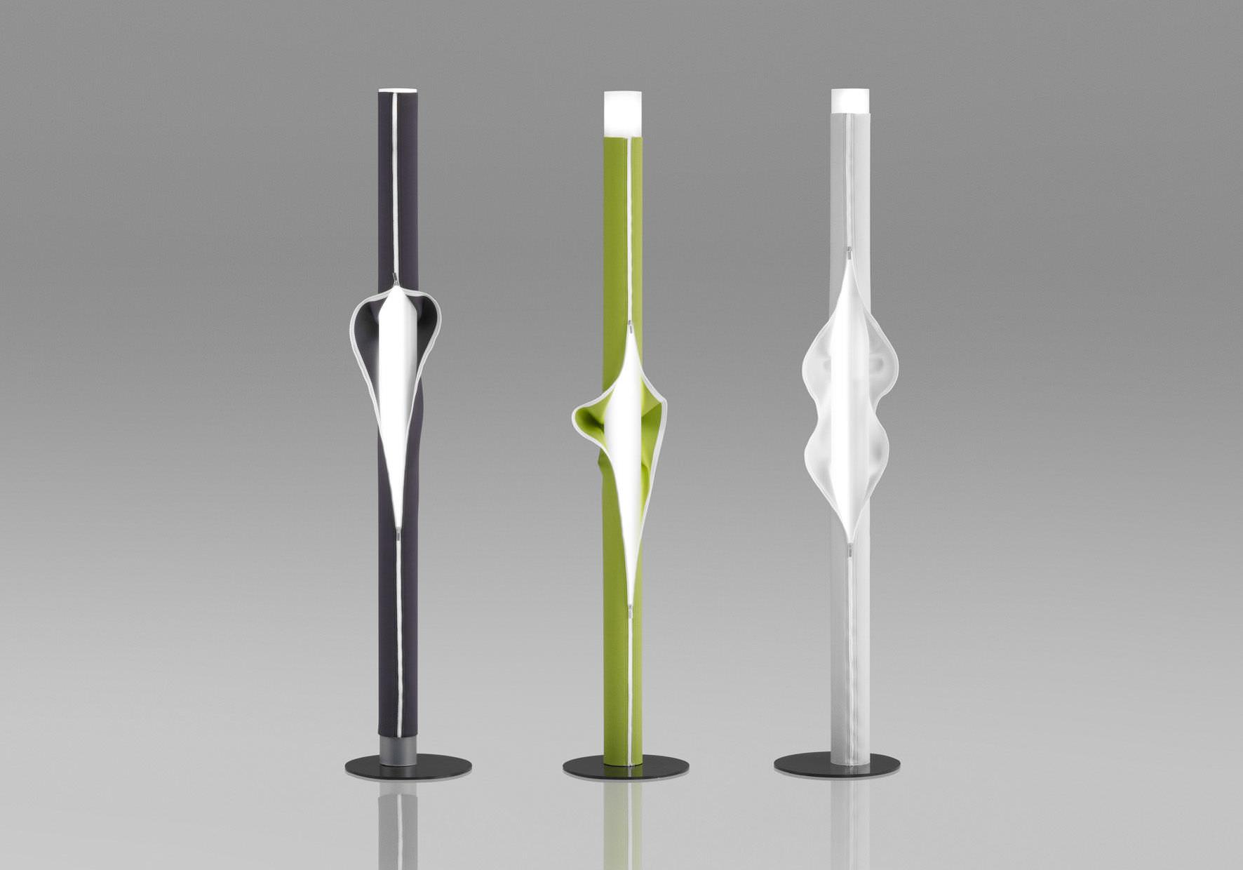 lampada da terra / design originale / in tessuto