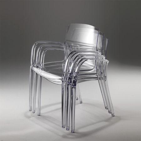 Sedie Trasparenti Con Braccioli.Sedia Da Ristorante Moderna Con Braccioli In Policarbonato