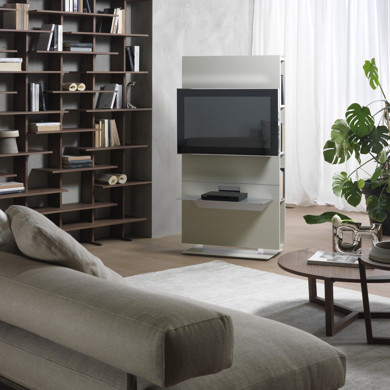 Angolo Tv Moderno supporto per tv da terra moderno - lounge - pacini & cappellini