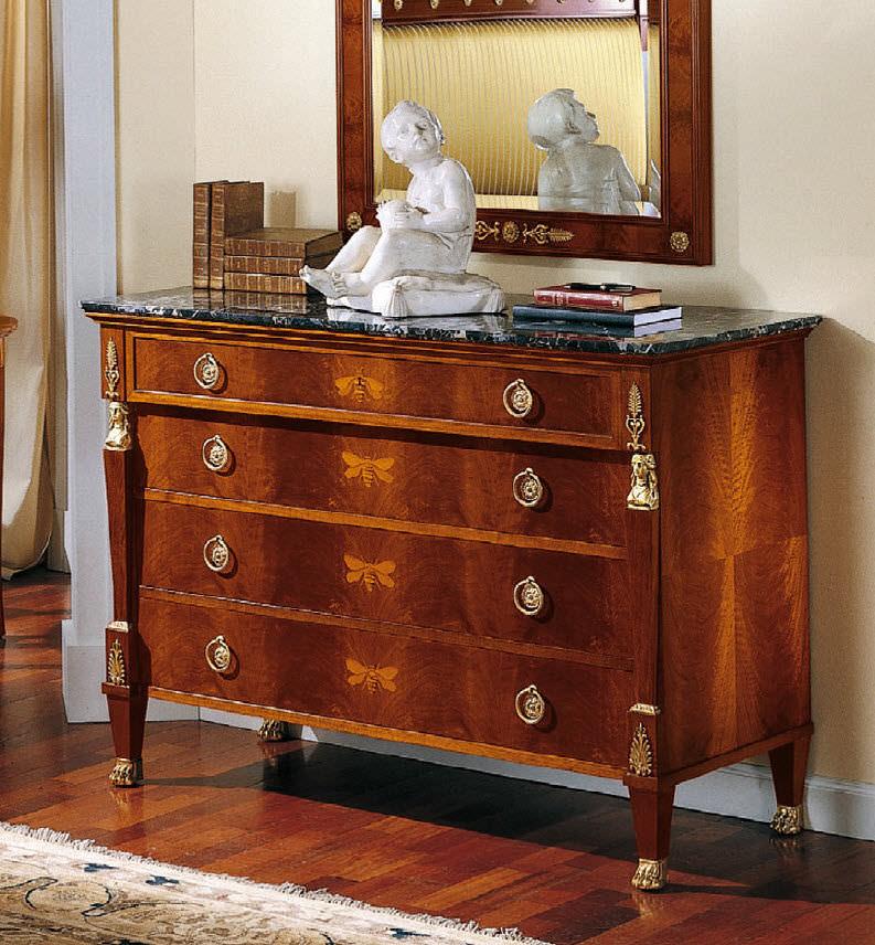 cassettone in stile Luigi XV / in legno / marrone
