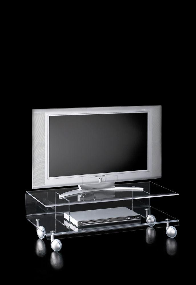 Mobile Porta Tv Vetro.Mobile Porta Tv Moderno Con Moderno Rotelle In Vetro