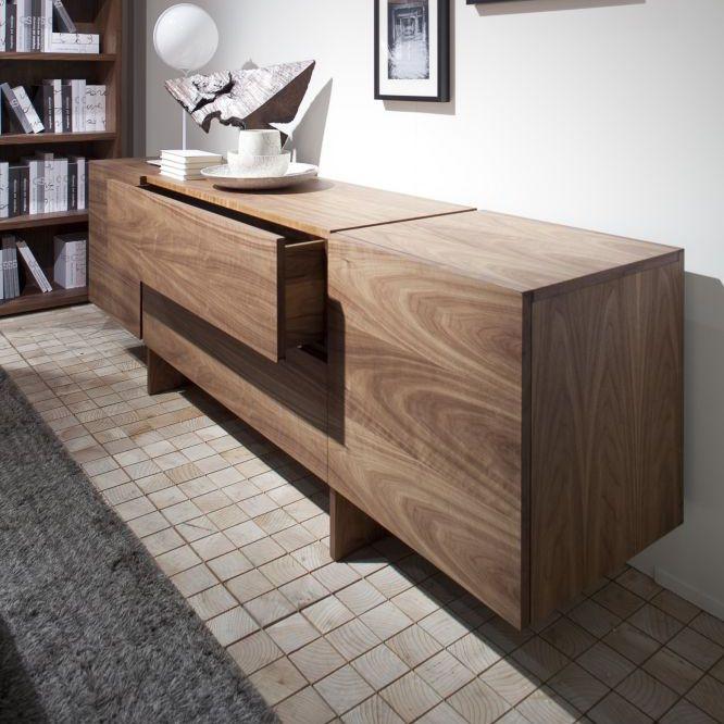 credenza moderna / in legno massiccio