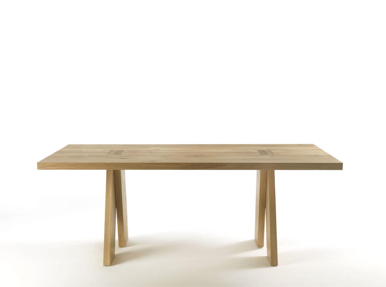 tavolo moderno / in quercia / in legno massiccio / rettangolare