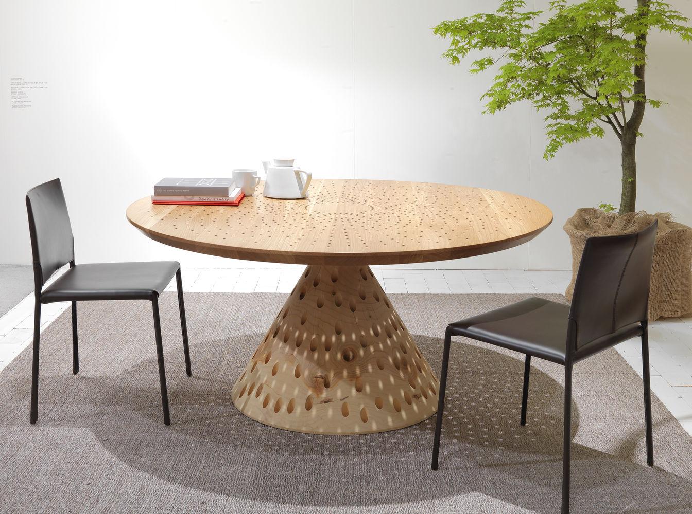 tavolo design originale / in legno massiccio / in cedro / quadrato