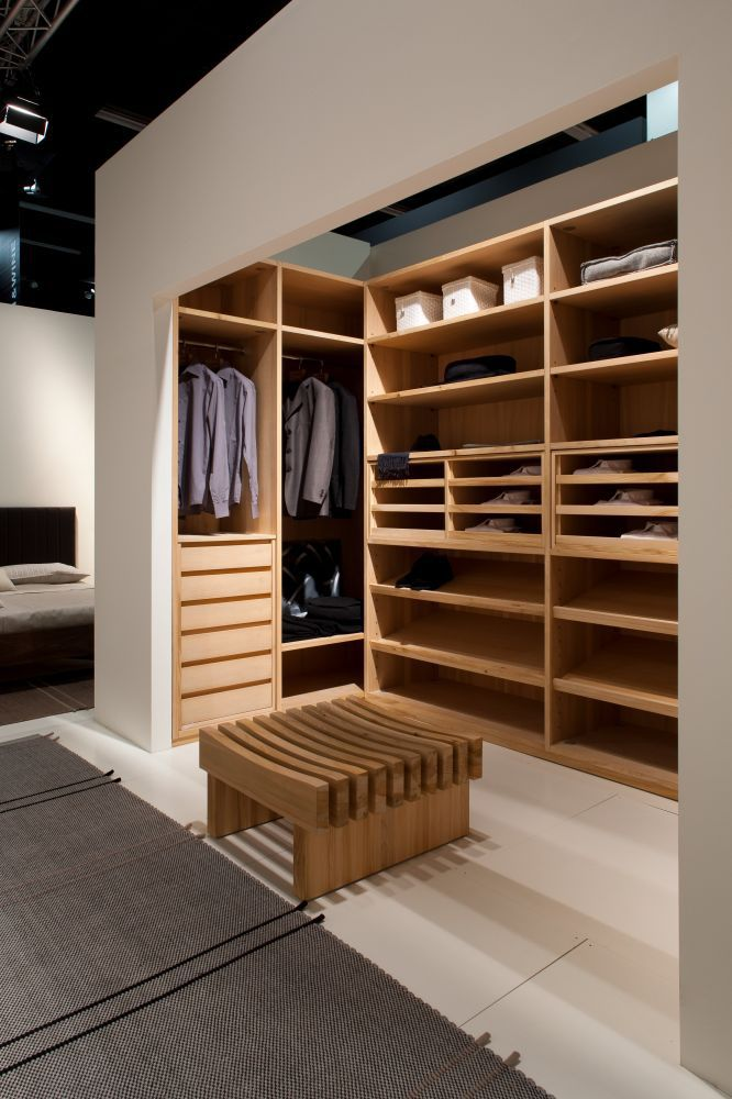 Cabina armadio ad angolo / moderna / in cedro - TRUST - Riva ...