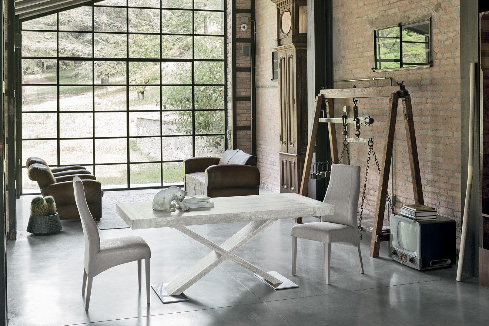 tavolo da pranzo design scandinavo / in laminato / rettangolare /  allungabile