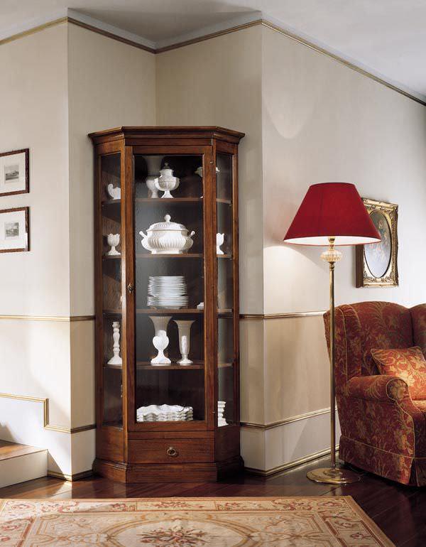 Mobile Ad Angolo Con Vetrina.Vetrina Classica In Legno Art 30 8a Zilio Mobili