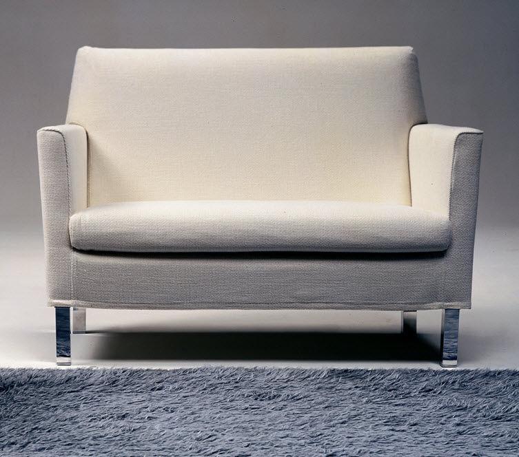Divano moderno / in tessuto / 2 posti / bianco - BATTIGIA by Atelier ...
