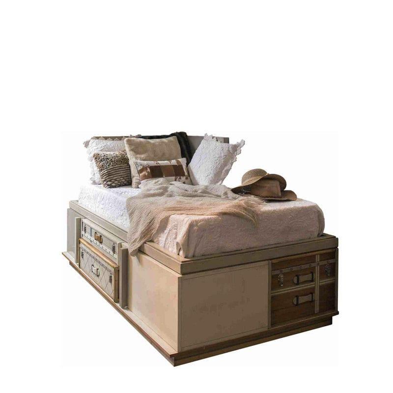 Letto Singolo Moderno Con Cassetti.Letto Singolo Suitcase 0080 S Lola Glamour Moderno Con