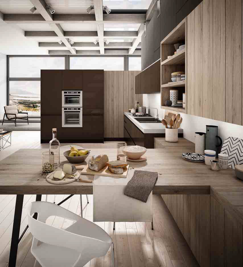 Cucina moderna / in laminato / a L / laccata - WEGA 5 ...